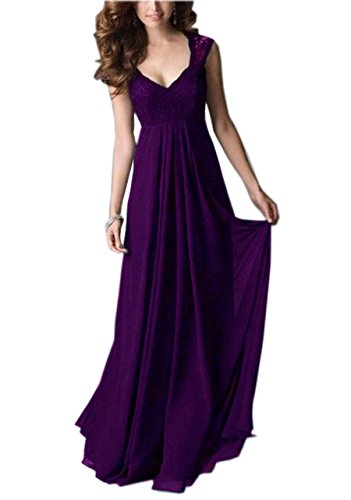 REPHYLLIS Women Sexy Vintage Party Wedding Bridesmaid Formal Cocktail Dress(XL,Purple) (Party Sexy)