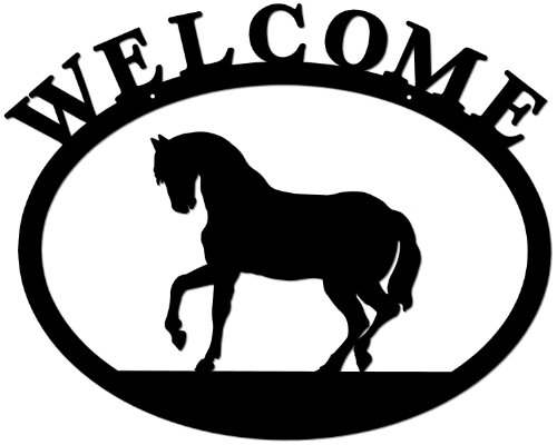 - Deltech Outdoor Living Wrought Iron Welcome Sign- Horse