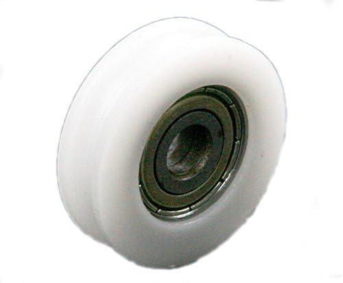 Driak - Ruedas de polea de Nailon con Ranura Profunda para Puertas correderas de 6, 8,10 mm, Barra de ángulo/cajones, 846,510 mm: Amazon.es: Deportes y aire libre