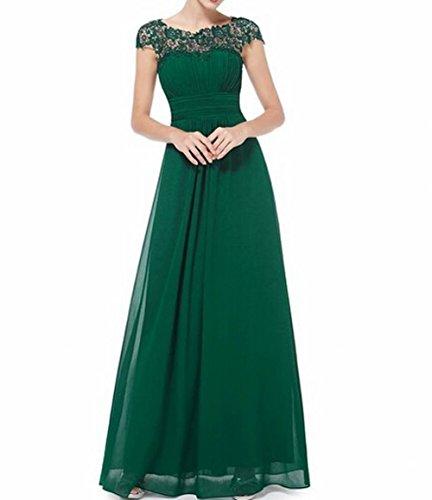 Brustumfang offener Damen der Abendkleid Gerüscht Rücken Grün Grün Schönheit Leader xUwOqg7T