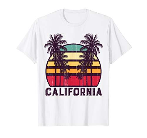 (California CA Retro 70's Vintage Skyline Surf Tee Shirt)