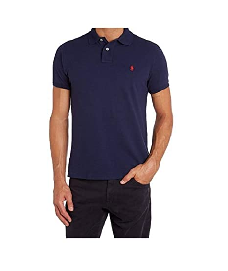 d682fa84e Ralph Lauren Polo Navy Blue ICON Polo Shirt Polo Shirt Men SZ :X-Small/XS:  Amazon.co.uk: Clothing