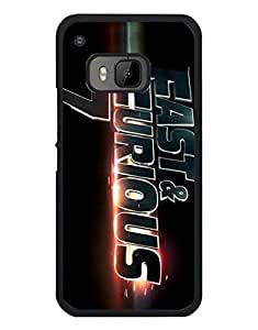Fast And Furious Logo,Movie Cell Phone Funda Case For HTC One M9 Scratch Resistant Tough Plastic Material Protector Hard Printed Funda Case Cover