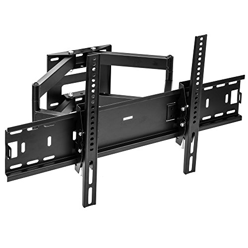 Sunydeal Articulating Arm TV Wall Mount Bracket for Samsung LG Vizio Sony Sharp Panasonic TCL 30-60 inch Plasma LCD LED 4K Flat Panel Smart TV, up to VESA 600x400 and 75 lbs, with Tilt Swivel Motion