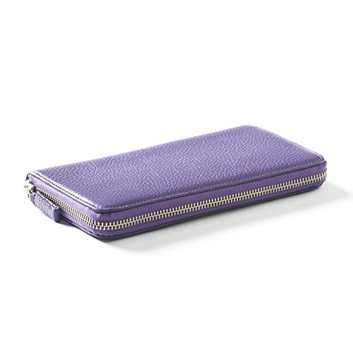 Zippered Continental Wallet - Full Grain Leather - Grape (purple) by Leatherology (Image #2)