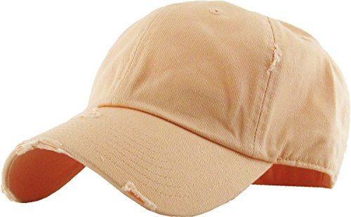 - KBE-Vintage PCH Vintage Washed Cotton Dad Hat Baseball Cap Polo Style