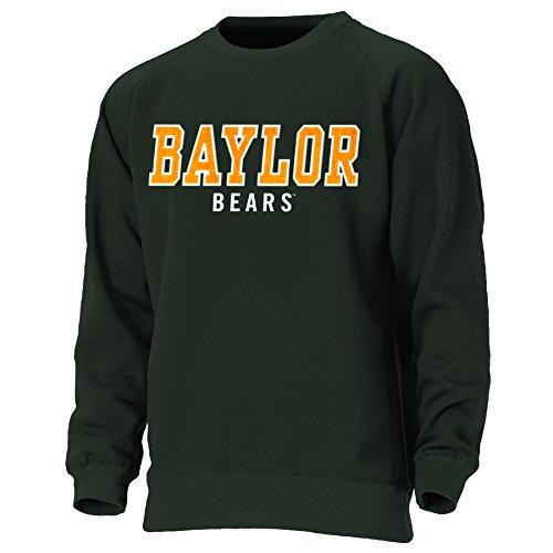 College Embroidered Crew Fleece Sweatshirt - Ouray Sportswear NCAA Baylor Bears Mens NCAA Men's Block Letters Crewneck Sweatshirt, Athletic Hunter, Large