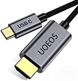 USB C to HDMI Cable 4K Adapter, uoeos USB Type-C to HDMI Portable USB C Cable Compatible with Ipad MacBook Pro,xps13…