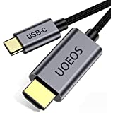 USB C to HDMI Cable 4K Adapter, UOEOS USB 3.1 Type-C to HDMI Adapter Compatible with MacBook Pro ,HDMI to USB C Adapter(Male to Male,1.8M)