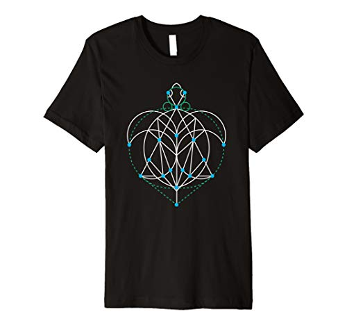 (Sacred Geometry Sea Turtle Beach Shirt Fractal Art Symbol)