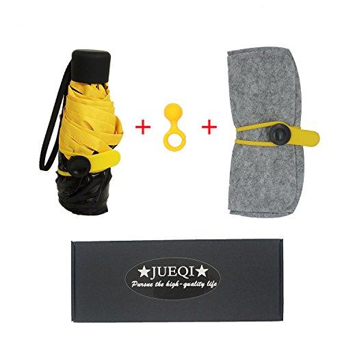 03c16f524fcae Galleon - JUEQI Ultra Mini And Light Umbrella. 5 Folding Compact Pocket  Umbrella. Travel Anti-UV Parasol. 6.8'' Length For Women (YELLOW)