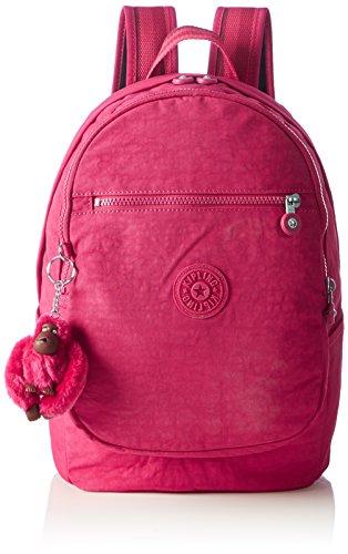 Kipling Clas Challenger, Sac à dos femme, 26x36x21 Cm Rosa (rose cerise C)
