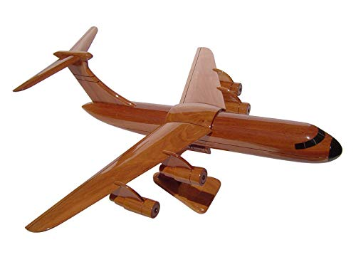 (C-5 Mahogany Wood Desktop Airplane Model (Ships within 48 hours))