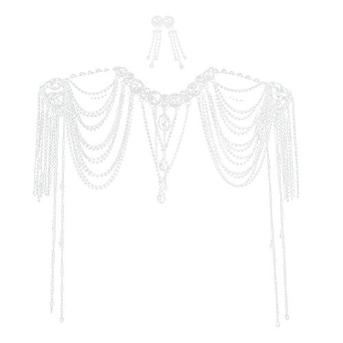 Tinksky Wedding Diamante Necklace Shoulder