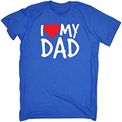 f21c2c23d9686 Funny Tee - I Love Dad Red Heart Mens T-Shirt Novelty Daddy Father ...