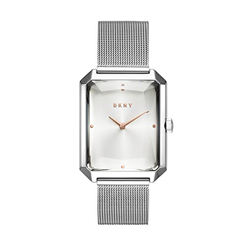 (DKNY Cityspire Quartz Silver Rectangle Dial Ladies Watch NY2708)