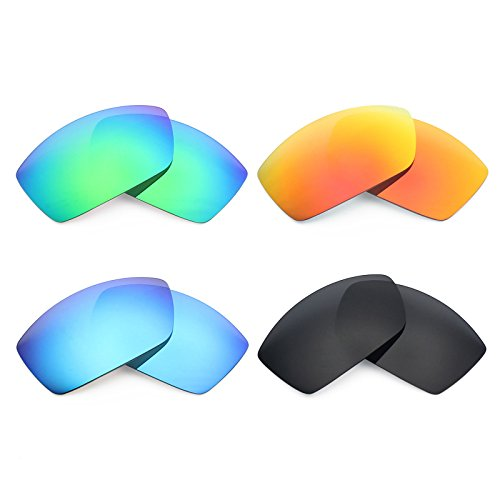 Mryok 4 Pair Polarized Replacement Lenses for Costa Del Mar Corbina Sunglass - Stealth Black/Fire Red/Ice Blue/Emerald Green by Mryok