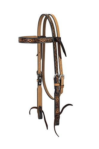 (Turquoise Cross Floral Tooled Browband Headstall)