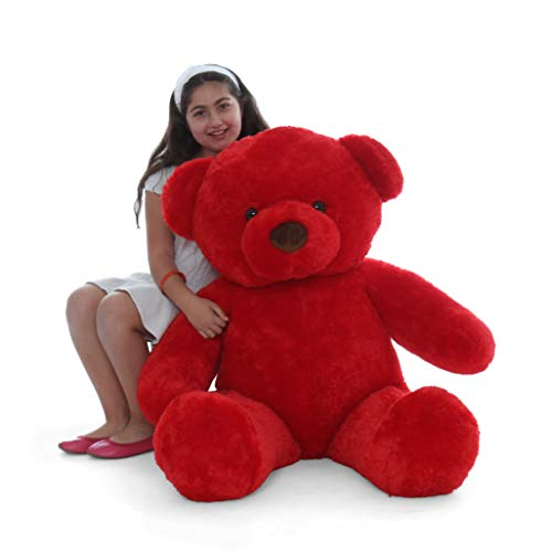 (Giant Teddy Original Bear Brand - Biggest Selection of Life Size Stuffed Teddy Bears (Ruby Red, 4 Foot))