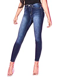 Wannabettabutt High-Rise Super Soft Skinny Luxe Jeans, New Blue