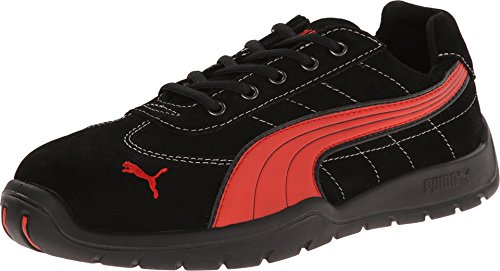 (PUMA Safety Men's Silverstone SD Black/Red Sneaker 11 W)
