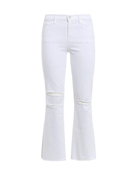 Amazon.com: J marca mujer Selena Blanco Ripped Crop Bootcut ...