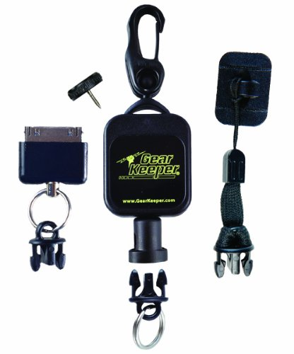 Hammerhead Industries Gear Keeper Smartphone Retractor RT5-5470 - Features Heavy-Duty Multiple Mount-Snap Clip/Threaded Stud with Q/CI Lanyard - Made in USA