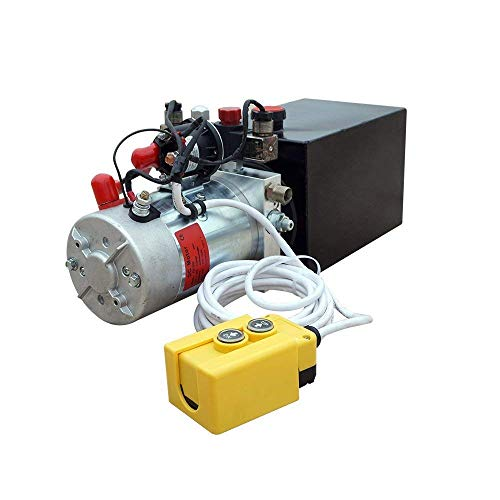 New 12V Hydraulic Pump /Hydraulic power unit/Electric dump trailer power unit (Double Acting 6 Quart ()