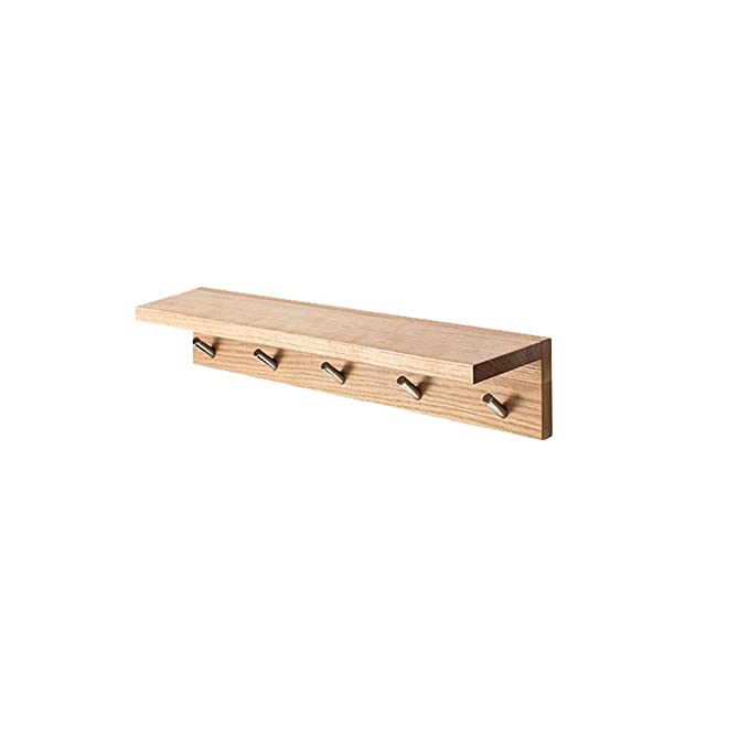 Amazon.com: Solid Wood Oak Coat Rack Hall F Wall Shelf ...