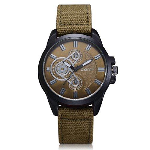 Men's Watch , Kinrui Quartz Movement Army Watch Six-pin dial (Army Green) Dial Army Green