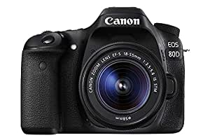 Canon EOS 80D Lens Kit - 24.2 MP, SLR Camera, 18 - 55mm IS STM, Black