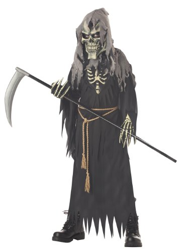 Dark Death Halloween Costumes (California Costumes Dark Messenger Costume without Wings, X-Large)