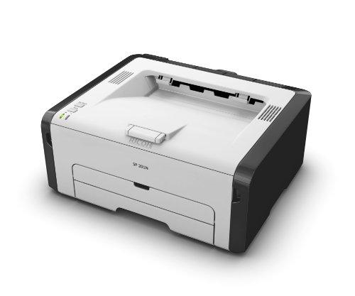 Ricoh SP 201N schwarz/weiß Laserdrucker (1200x600 dpi, Ethernet 10 base-T/100 base-TX, USB 2.0) grau