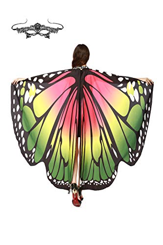 Mysterious Halloween Costume Ideas (MCFANCE Butterfly Wing Cape Shawl Women Halloween Costume Accessory Fairy wings for Women's soft Butterfly Wings,)