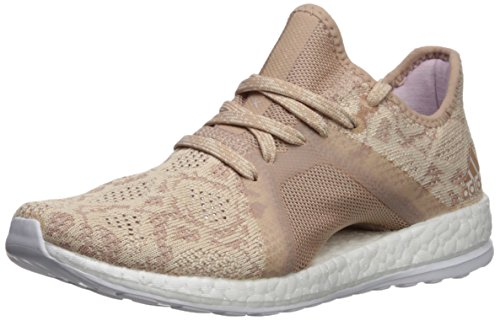 adidas Performance Women's Pureboost X Element Running Shoe, Ash Pearl/Ash Pearl/Hi-Res Blue, 6.5 M ()