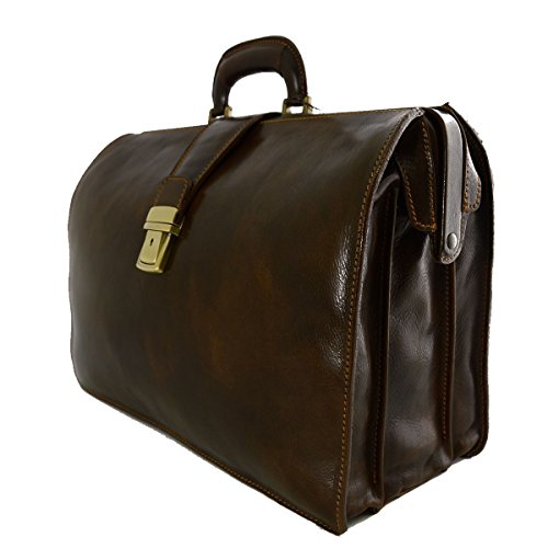 Borsa Business E Medico In Pelle 3 Scomparti Colore Moro - Pelletteria Toscana Made In Italy - Business Oferta De Tienda Barata uIc4U9qzr
