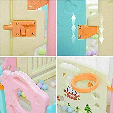 Protection de Porte Pour Les Grands Jeux Evolutifs Plastique 12 Panneaux Modulable Barri/ère de Securit/é Enfant Parc B/éb/é