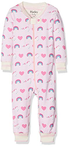 Hatley Baby Girls Organic Cotton Sleepers, Unicorns/Rainbows 0-3 Months ()