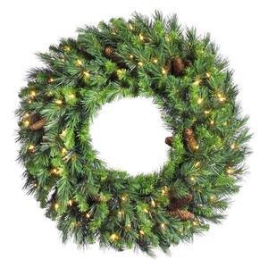 Vickerman Cheyenne Pine Wreath-Unlit, 30-Inch, Green