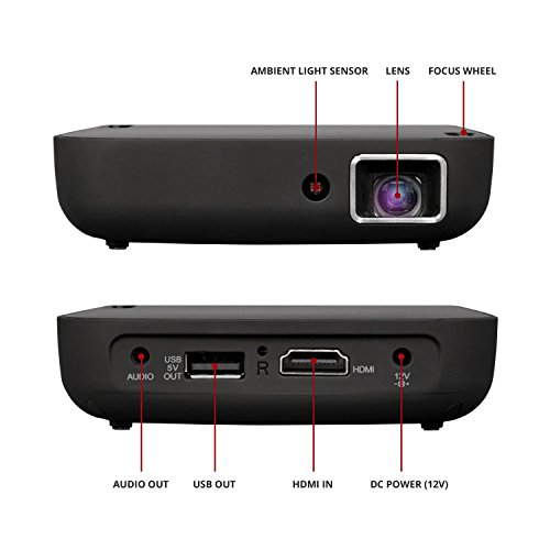 Magnasonic wi fi mini video projector hdmi wireless for for Mini projector for presentations