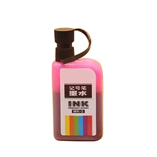 Advertising Ink - bjduck99 Quick Dry Erasable POP Mark Ink Refillable for Marker Advertising Poster Pen - Pink
