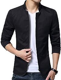 Men's Cotton Lightweight Slim Fit Jacket Casual Wear