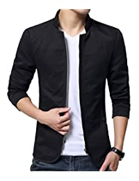 XueYin Men's Cotton Lightweight Slim Fit Jacket Casual Wear