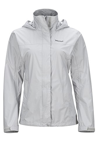 Marmot PreCip Women's Lightweight Waterproof Rain Jacket, Platinum, Large