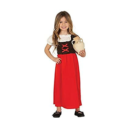 Guirca Disfraz de Posadera Roja para Niña: Amazon.es ...
