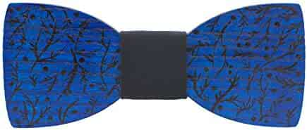 289bc829d4d9 Bow Tie House Wooden painted bow tie branches pattern unisex pre-tied +  gift box