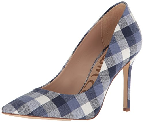 Sam Edelman Women's Hazel Pump, Navy Multi Gingham, 9 M US