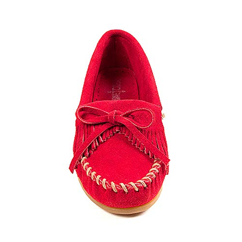 Minnetonka Red Suede donna Kilty Mocassino Moc da Bw46BrqF