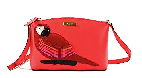 Kate Spade Millie Parrot Talk the Talk Coral Leather Crossbody Handbag by Kate Spade New York