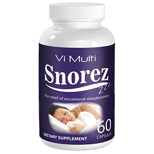 Vimulti Snoring Aid and Sleep Aid in One. Natural Snoring Remedies with Melatonin helps stop Snoring and is a Natural Sleeping Tablet. No More anti snoring devices.